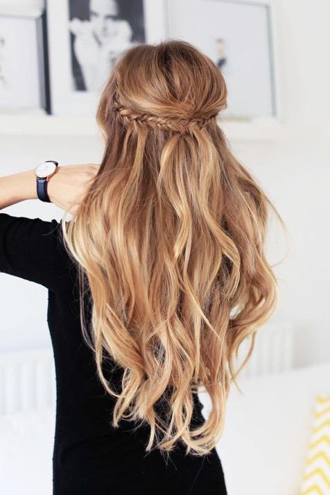 مدل مو باز مجلسی ساده و موج دار