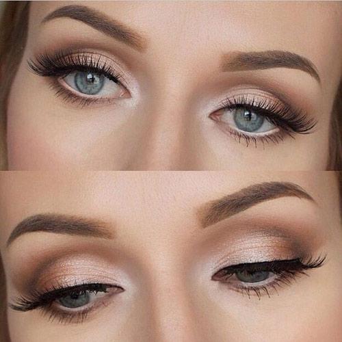 مدل آرایش چشم درشت و برجسته