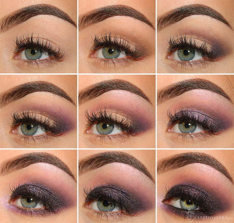 purple smokey eye makeup 1