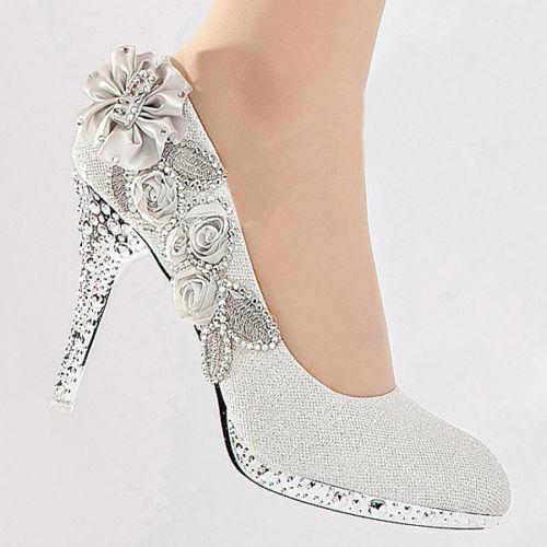 انواع مدل کفش مجلسی نگین دار با پاشنه بلند