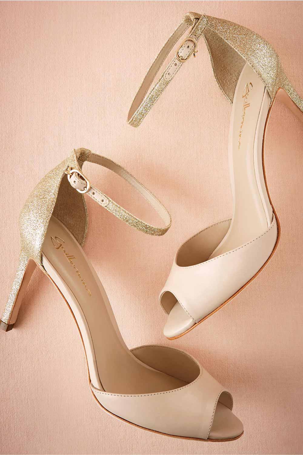 انواع مدل از کفش مجلسی طلایی و پاشنه بلند