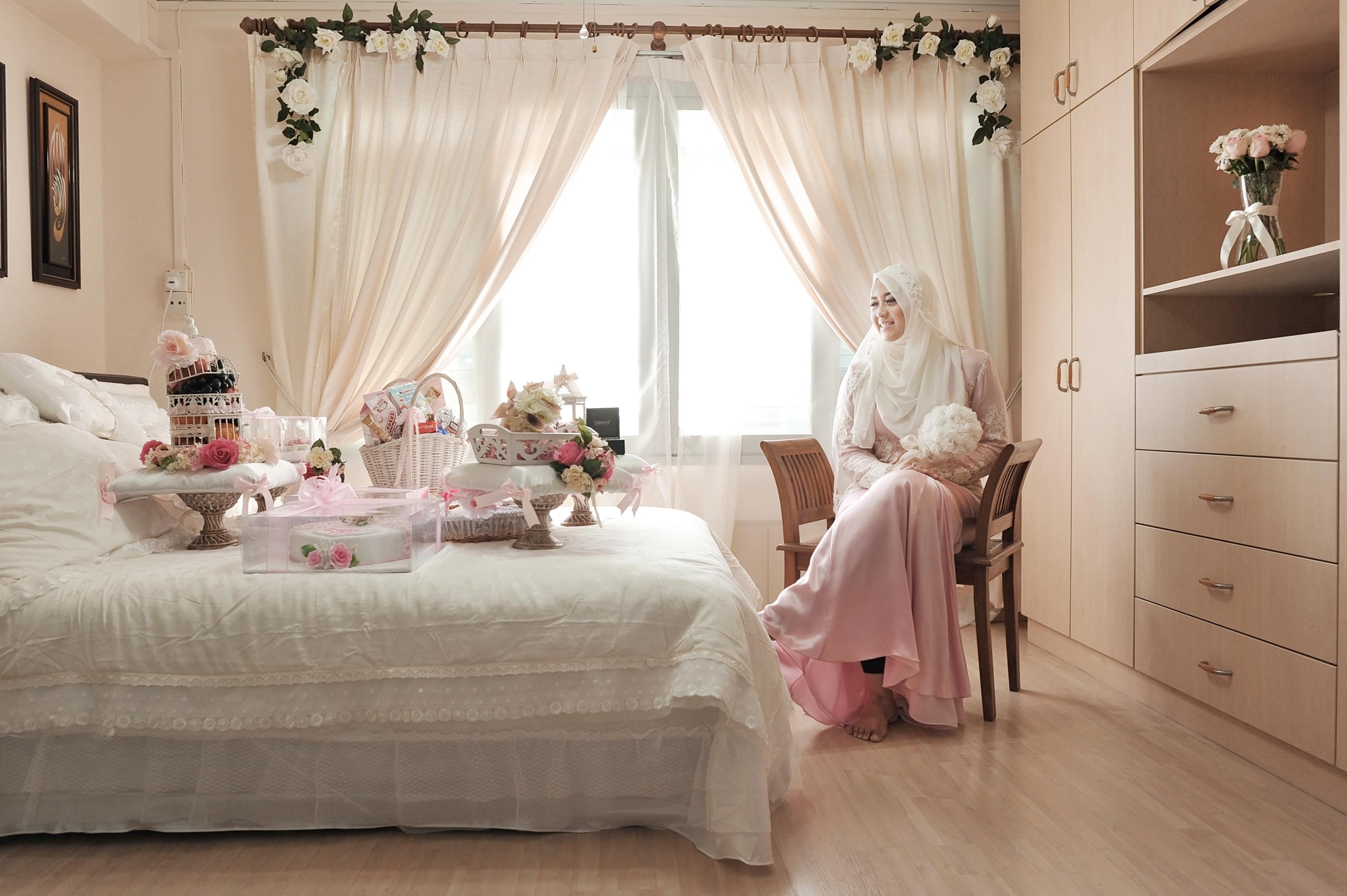 عکس مدل تزیین اتاق خواب عروس شیک با وسایل ساده