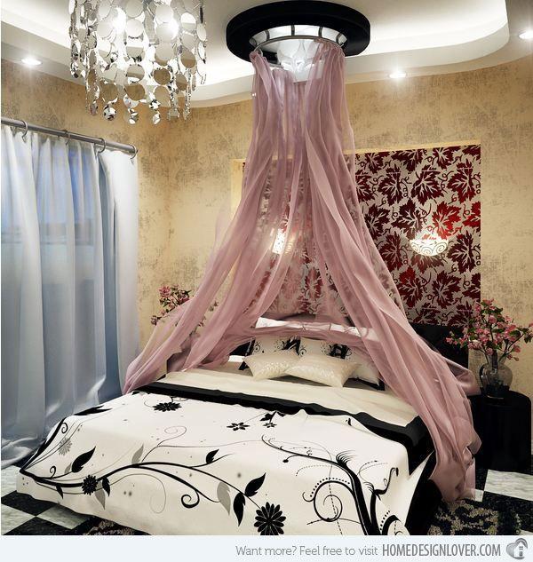 تصاویر تزیین اتاق خواب عروس با تور 2018