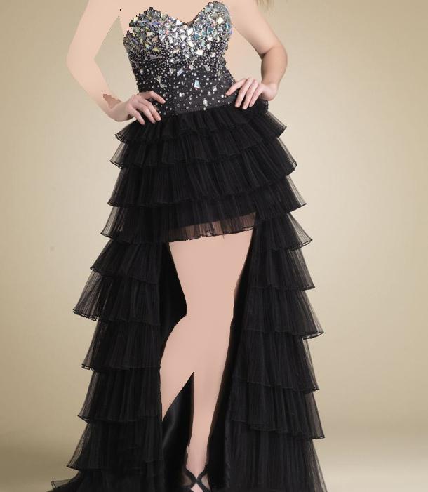 مدل لباس مجلسی دخترانه با دامن حریر