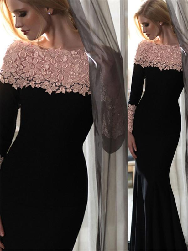 لباس مجلسی ساده با بالا تنه گیپور و آستین دار پوشیده انواع مدل لباس مجلسی دخترانه و زنانه شیک و جدید با مدلی خاص برای یک جشن و یا مهمانی