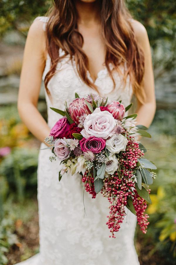 زیباترین مدل دسته گل عروس آبشاری جدید 2018