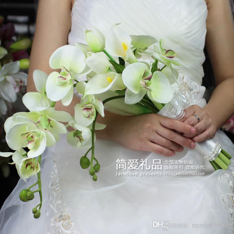 جدیدترین مدل دسته گل عروس آبشاری با گل ارکیده