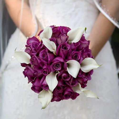 مدل دسته گل عروس با گل ارکیده مدل 2017