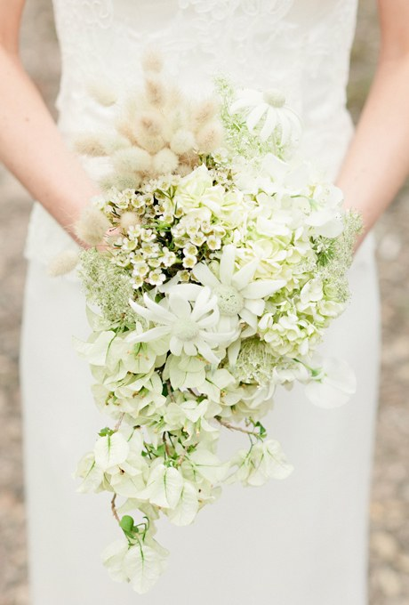 مدل دسته گل عروس آّبشاری ساده و شیک