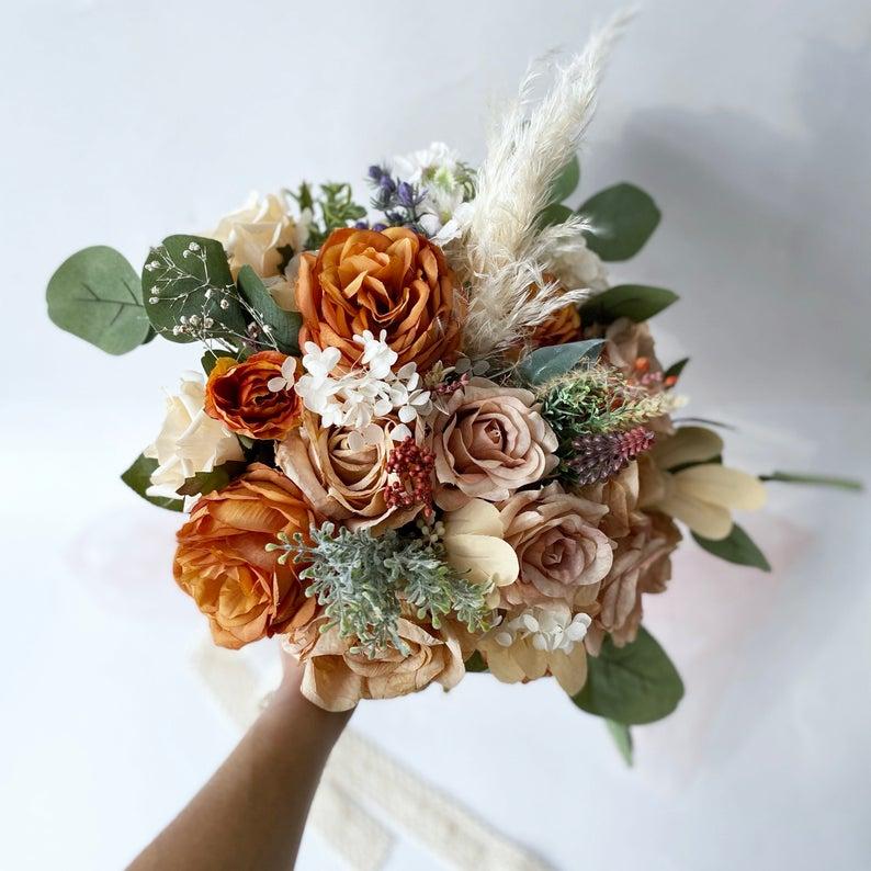 دسته گل عروس شیک و جدید