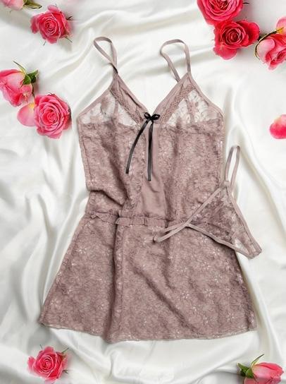 لباس خواب زنانه توری جذاب و تحریک کننده