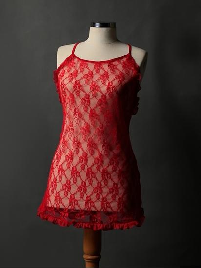 لباس خواب زنانه کوتاه توری و بدن نما