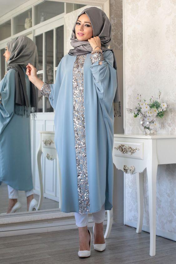 مدل مانتو عربی و بسیار شیک زنانه از جنس ساتن