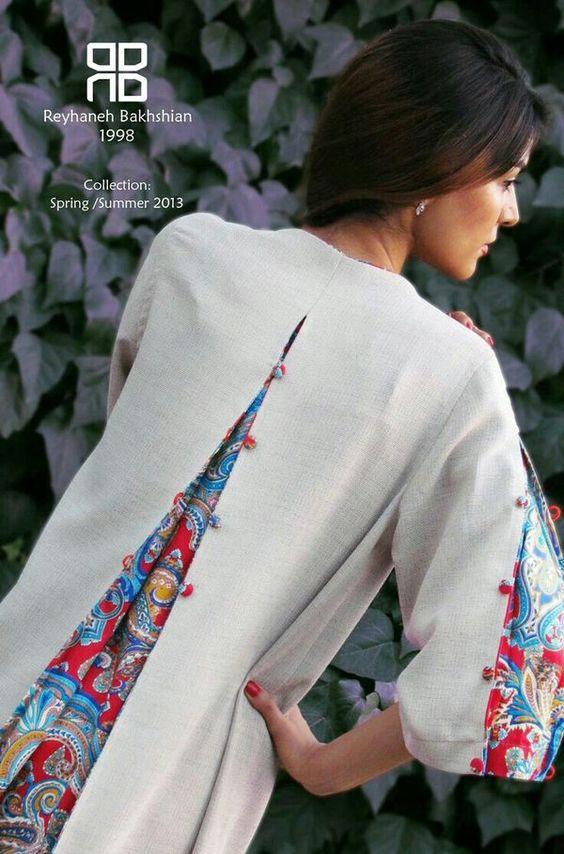 مدل مانتو تابستانی با طرح سنتی و بسیار شیک