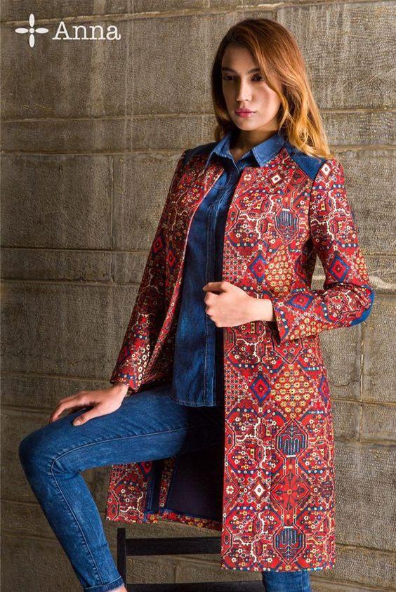 مدل مانتو زنانه مجلسی و دو رنگ بسیار زیبا 97