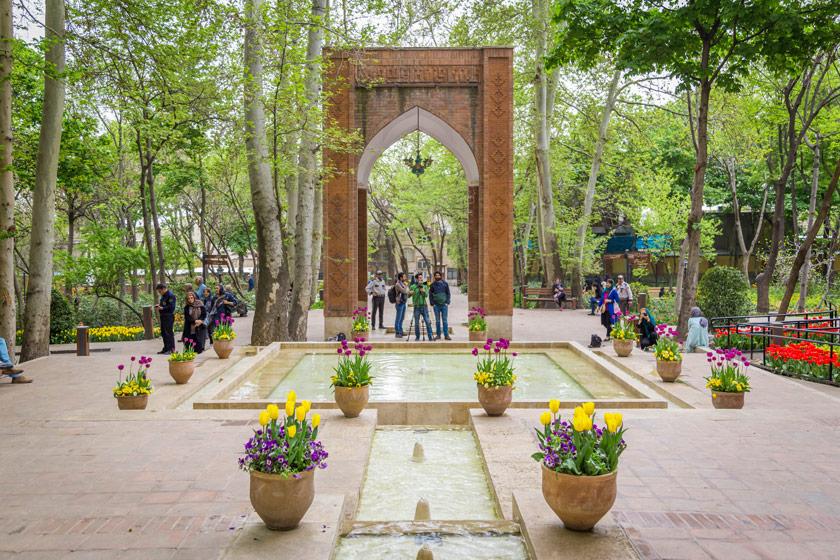 تاریخچه بوستان باغ ایرانی تهران، ده ونک