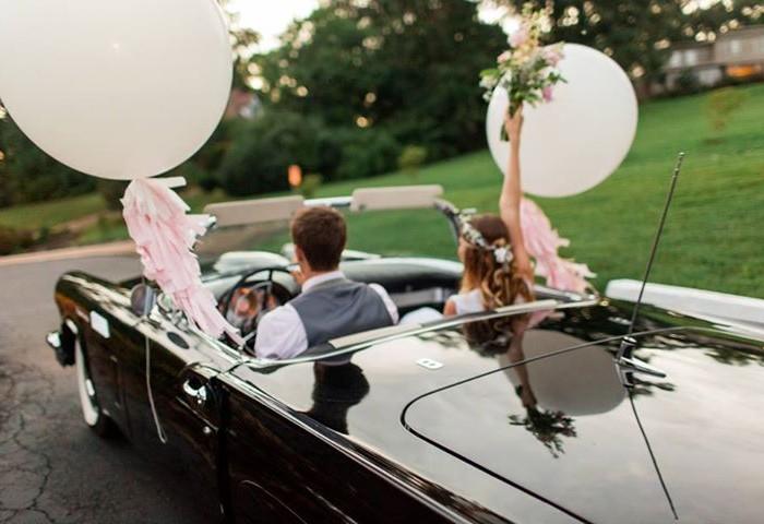 تزیین ماشین عروس روباز برای عقد