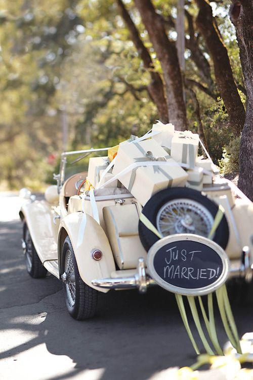 تزیین ماشین عروس ساده اروپایی
