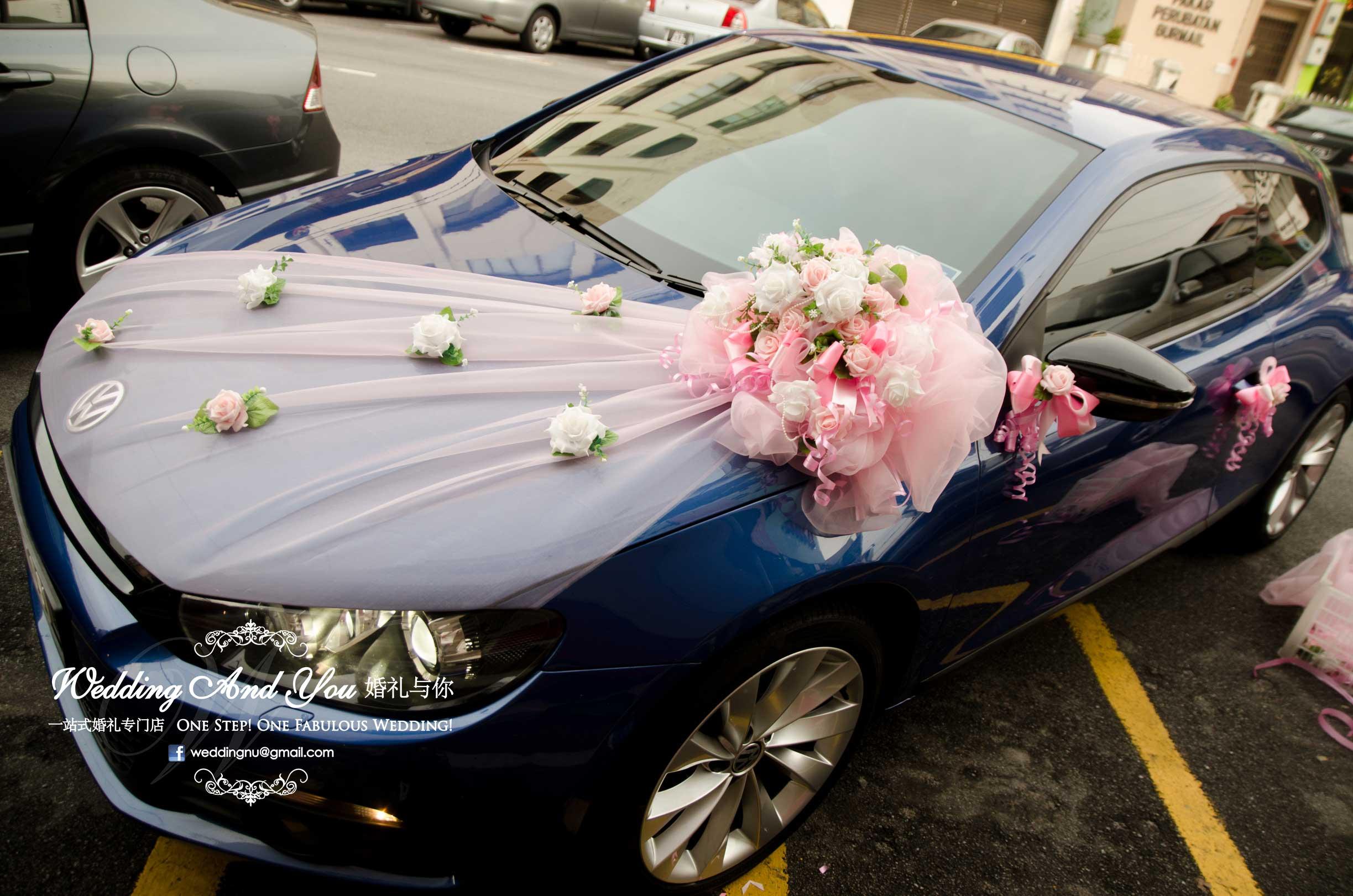 زیباترین مدل تزیین ماشین عروس لوکس با تور
