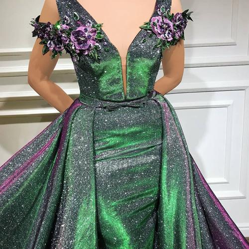 انواع مدل لباس گل گلی با دامن کلوش بلند