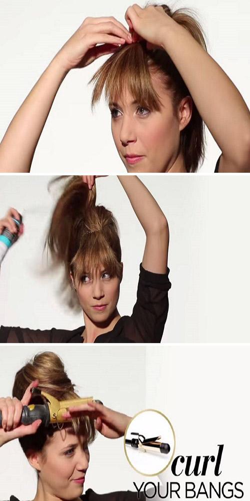 چگونه موهای چتری را صاف کنیم؟