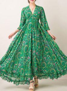 لباس مجلسی بلند سبز