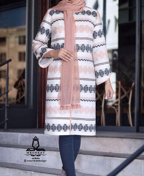 مدل مانتو جلو باز اسپرت برای عید