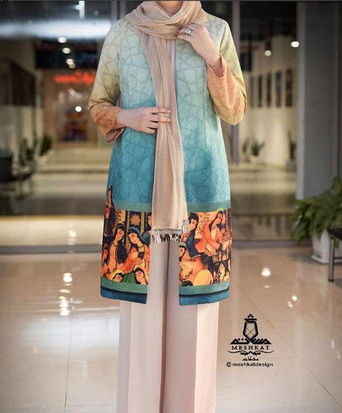 مدل لباس مانتو برای عید 99